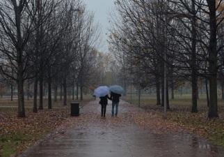 28 - una passeggiata nel parco è piacevole anche in un giorno di pioggia