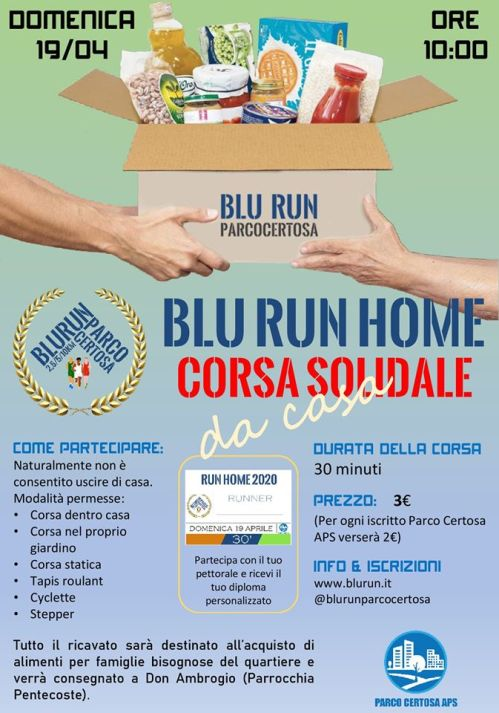 Manifesto Blu Run 2020